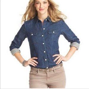 8d07f8f325 Loft button down chambray shirt size medium